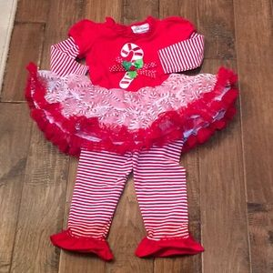 Baby Girl Rare Editions Christmas Outfit